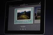 Apple iWork for the iPad has an easy-to-create presentation software, called Keynote.
