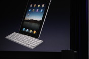 Apple also announced accessories for the iPad, including this dockable keyboard.