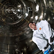 Inside the Large Hadron Collider chamber