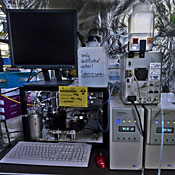 Equipment used in a cloud experiment during the LHC's first beam run.