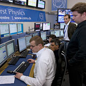 At the LHC Control Center, scientists watch the record-breaking data come in.
