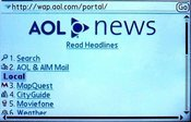 AOL's mobile portal page points to some very usable services -- MapQuest for mobile devices in particular.