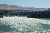 The Dalles' power-producing dam.