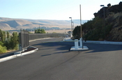 Entrance to Google's fenced complex in The Dalles, Ore.