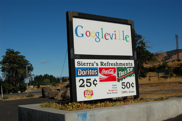 Convenience store sign near The Dalles, Ore.