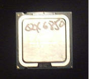 Intel's QX6850 processor has four cores running at 3.0-GHz each.