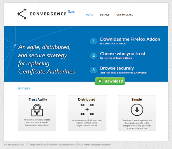 Convergence Protects Against Fraudulent Web Security Certificates