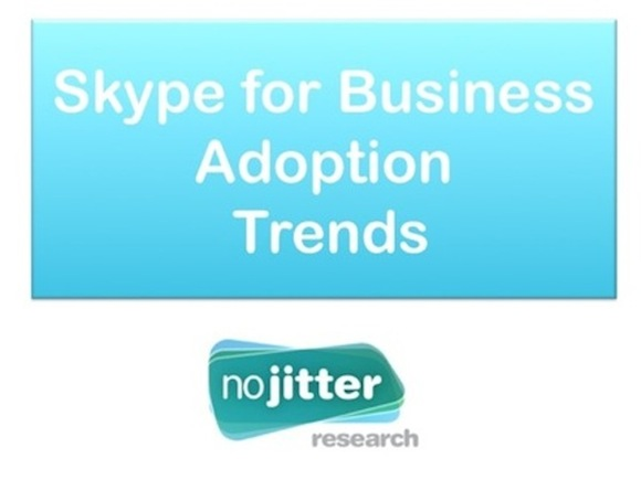 No Jitter Research Presents: Skype for Business Adoption Trends