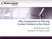 Slideshow: Contact Center in the Cloud