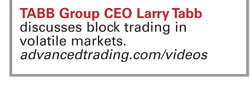 Founder of TABB Group, Larry Tabb, discusses the changing landscape of block trading in these exclusive videos.