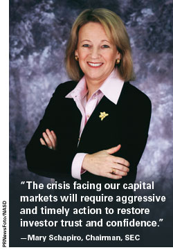 Mary Schapiro, Chairman, SEC