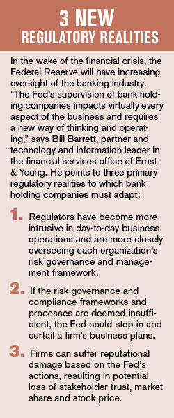 Three new regulatory realities have emerged in the wake of the financial crisis
