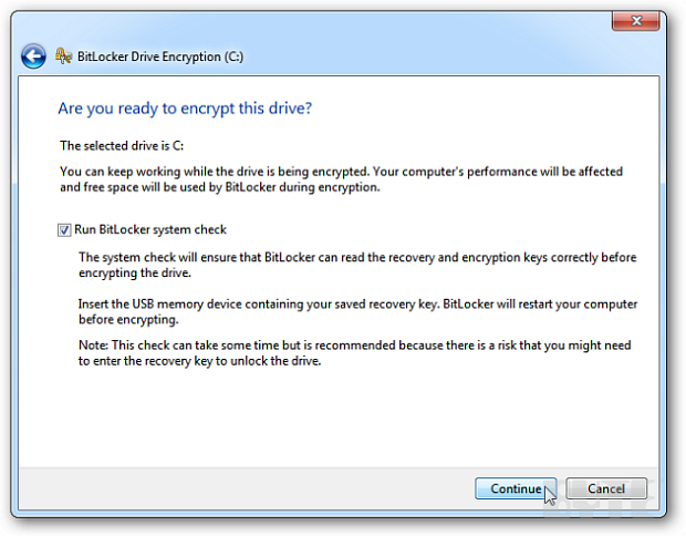 How to Encrypt your Windows 7 Hard Disk with BitLocker | IT