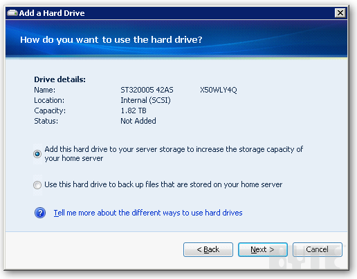 How To Add a Hard Drive to Your Windows Home Server | IT