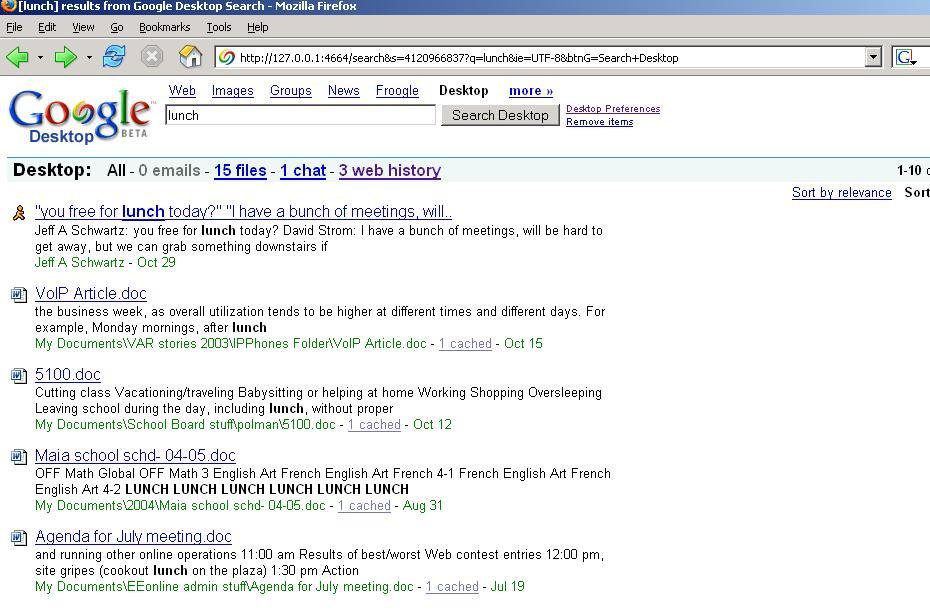 Quick Review: Google Desktop | IT Infrastructure Advice