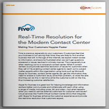 Dowload: UC Analyst Whitepaper: Real-Time Resolution for the Modern Contact Center